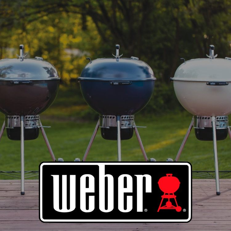 Weber logo with charcoal grills