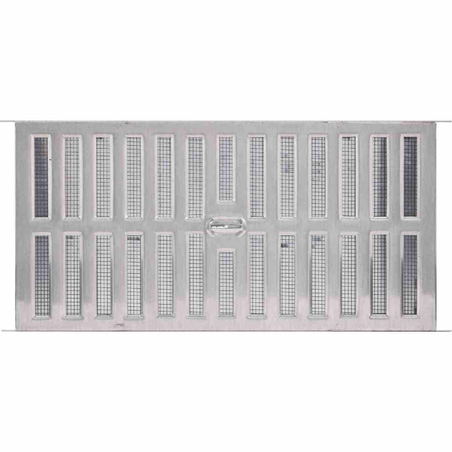 Air Vent 8 In. x 16 In. Aluminum Manual Foundation Vent with Adjustable Sliding Damper Image 2