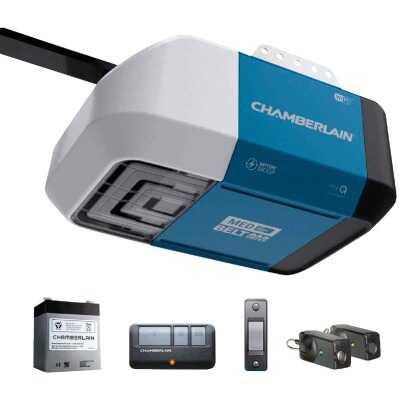 Chamberlain B2212T 1/2 HP myQ Smart Belt Drive Garage Door Opener with WiFi and Battery Backup