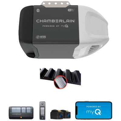 Chamberlain B2202 1/2 HP myQ Smart Belt Drive Garage Door Opener with WiFi