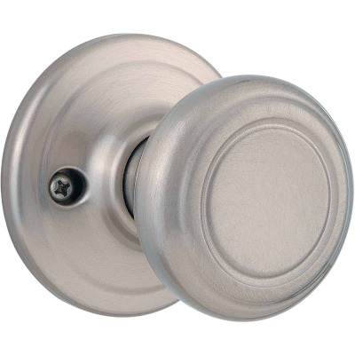 Kwikset Signature Series Satin Nickel Cameron Dummy Door Knob