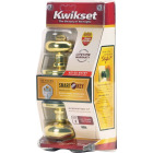 Kwikset Signature Series Polished Brass Juno Entry Door Knob with SmartKey Image 5