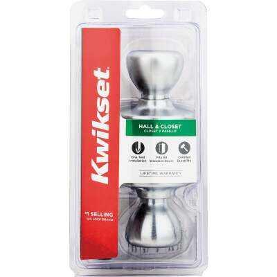 Kwikset Satin Chrome Mobile Home Passage Lockset