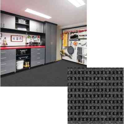 Smart Transformations 24 In. x 24 In. Smoke Mosaic Carpet Tile (15-Pack)