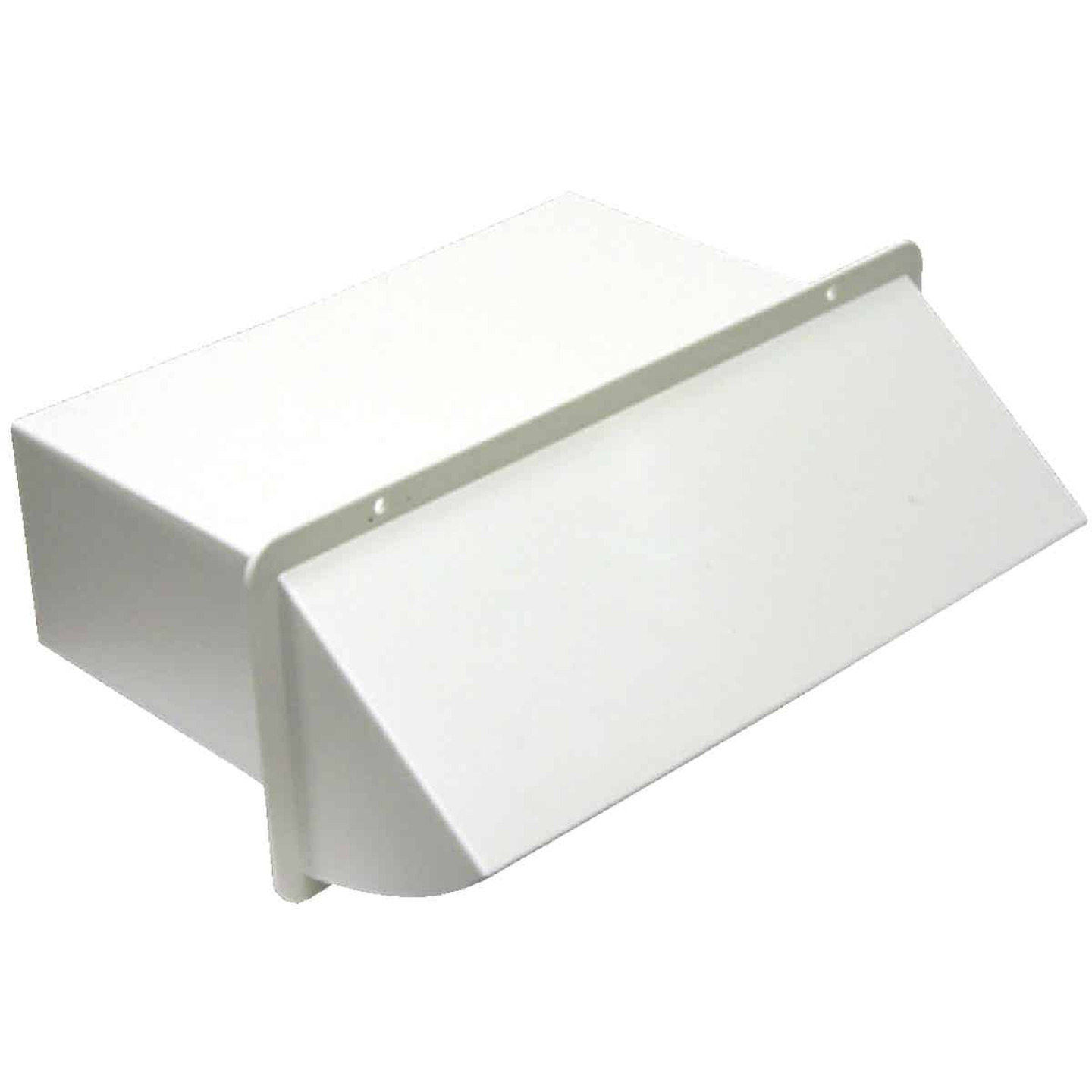 Lambro 3-1/4 In. x 10 In. White Plastic Kitchen Wall Vent Cap with Damper Image 1