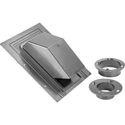 Lambro 3 In. or 4 In. Black Plastic Roof Vent Cap for Bath Exhaust Fan