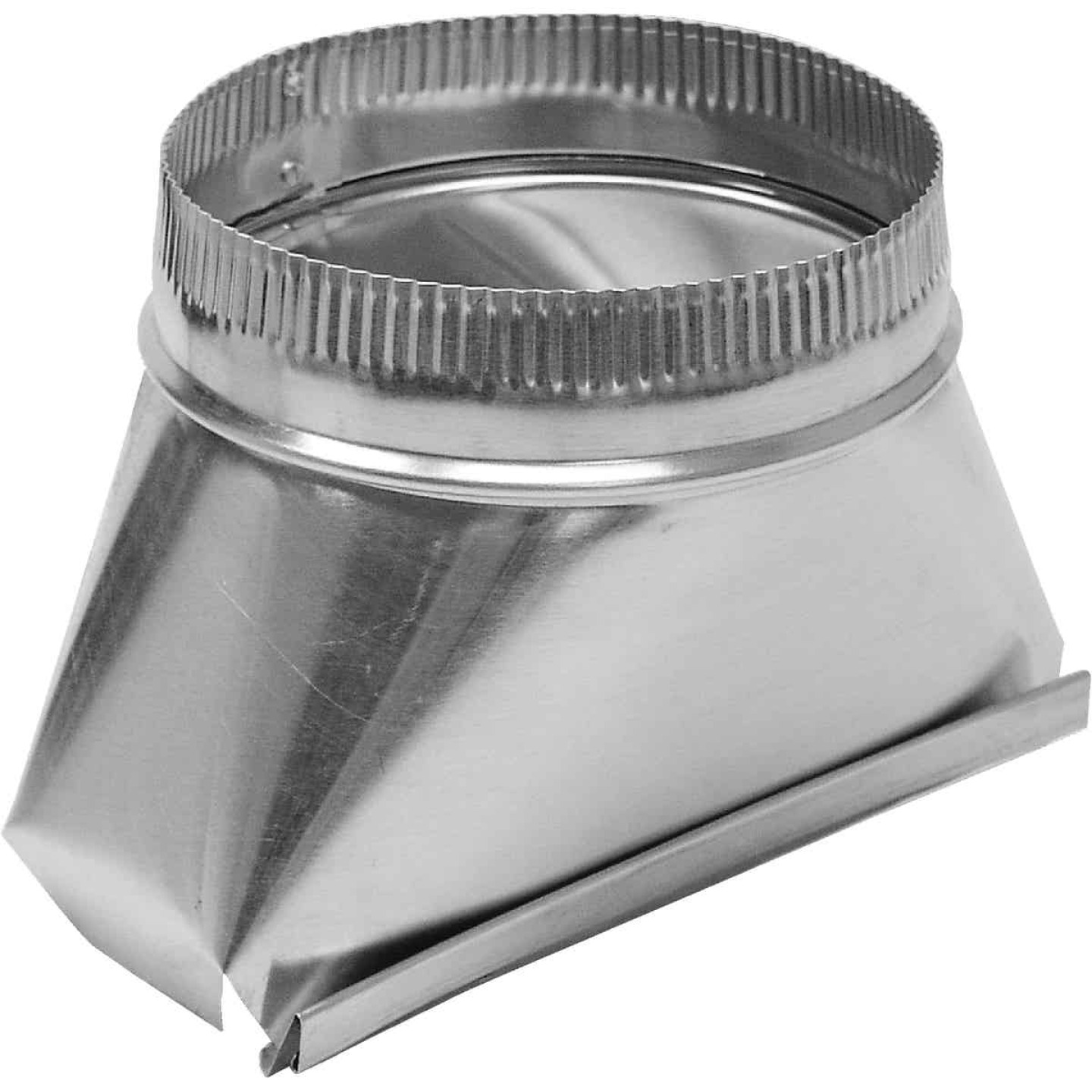 Lambro 7 In. Galvanized Standard Round Transition Boot Image 1