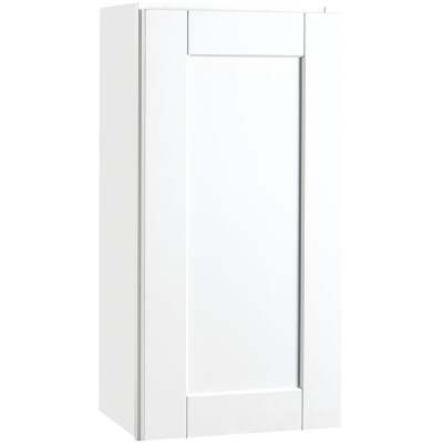 Continental Cabinets Andover Shaker 15 In. W x 30 In. H x 12 In. D White Thermofoil Wall Kitchen Cabinet