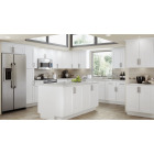 Continental Cabinets Andover Shaker 18 In. W x 30 In. H x 12 In. D White Thermofoil Wall Kitchen Cabinet Image 2