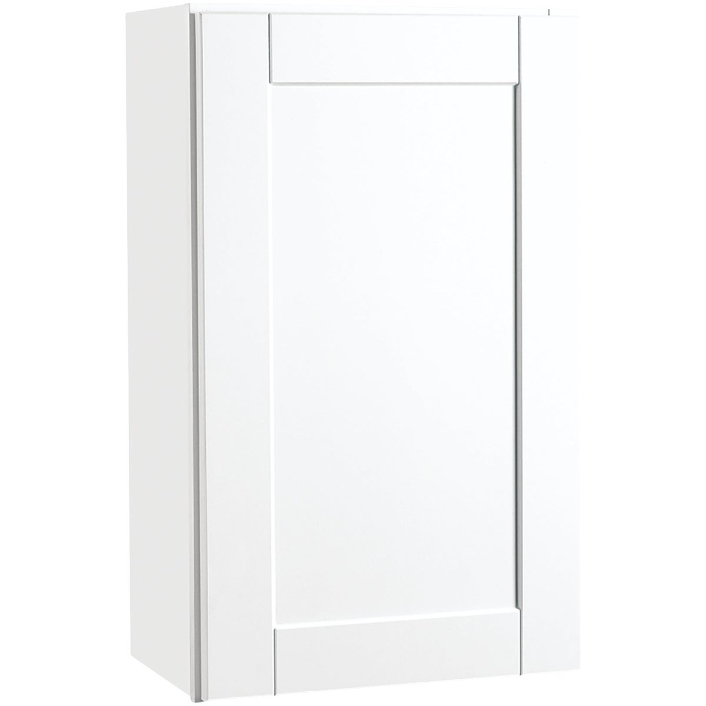 Continental Cabinets Andover Shaker 18 In. W x 30 In. H x 12 In. D White Thermofoil Wall Kitchen Cabinet Image 1