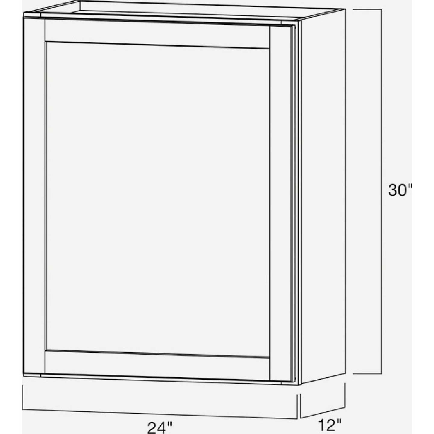 Continental Cabinets Andover Shaker 24 In. W x 30 In. H x 12 In. D White Thermofoil Wall Kitchen Cabinet Image 5