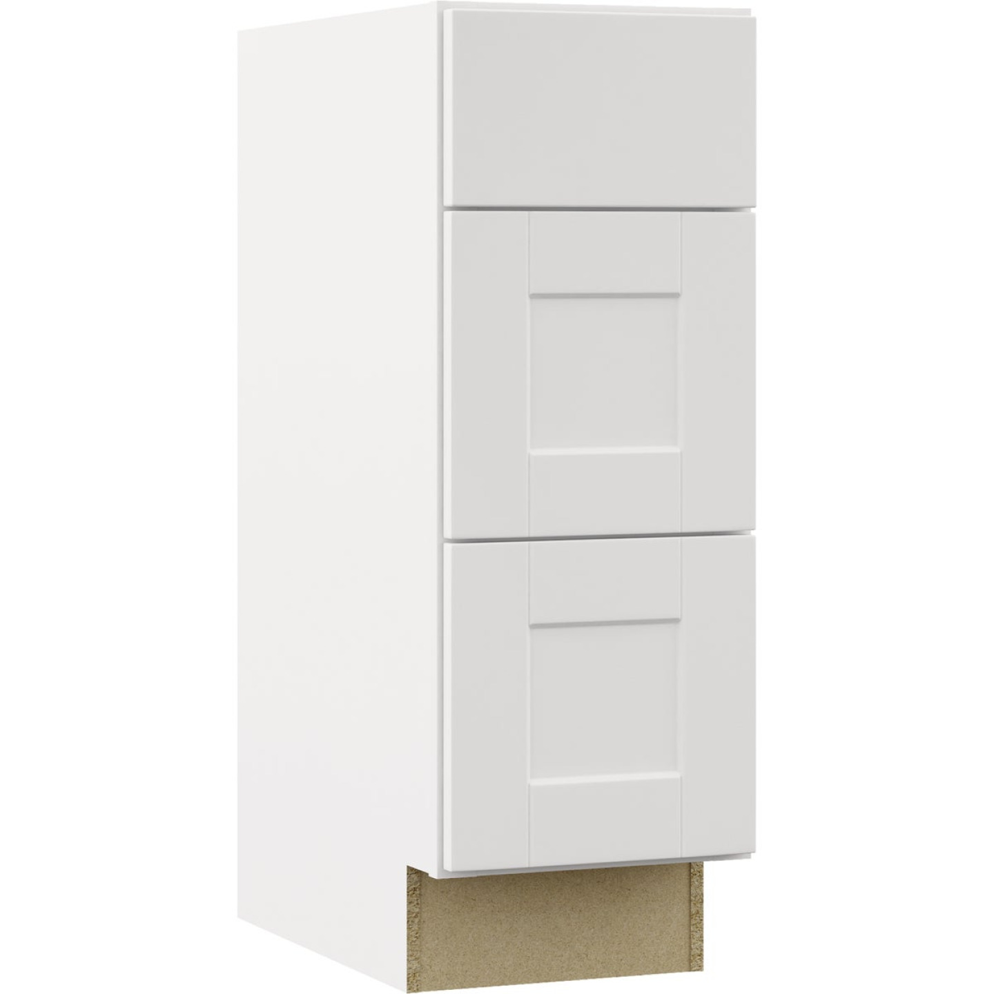 Continental Cabinets Andover Shaker 12 In. W x 34-1/2 In. H x 21 In. D White Drawer Vanity Base Image 1