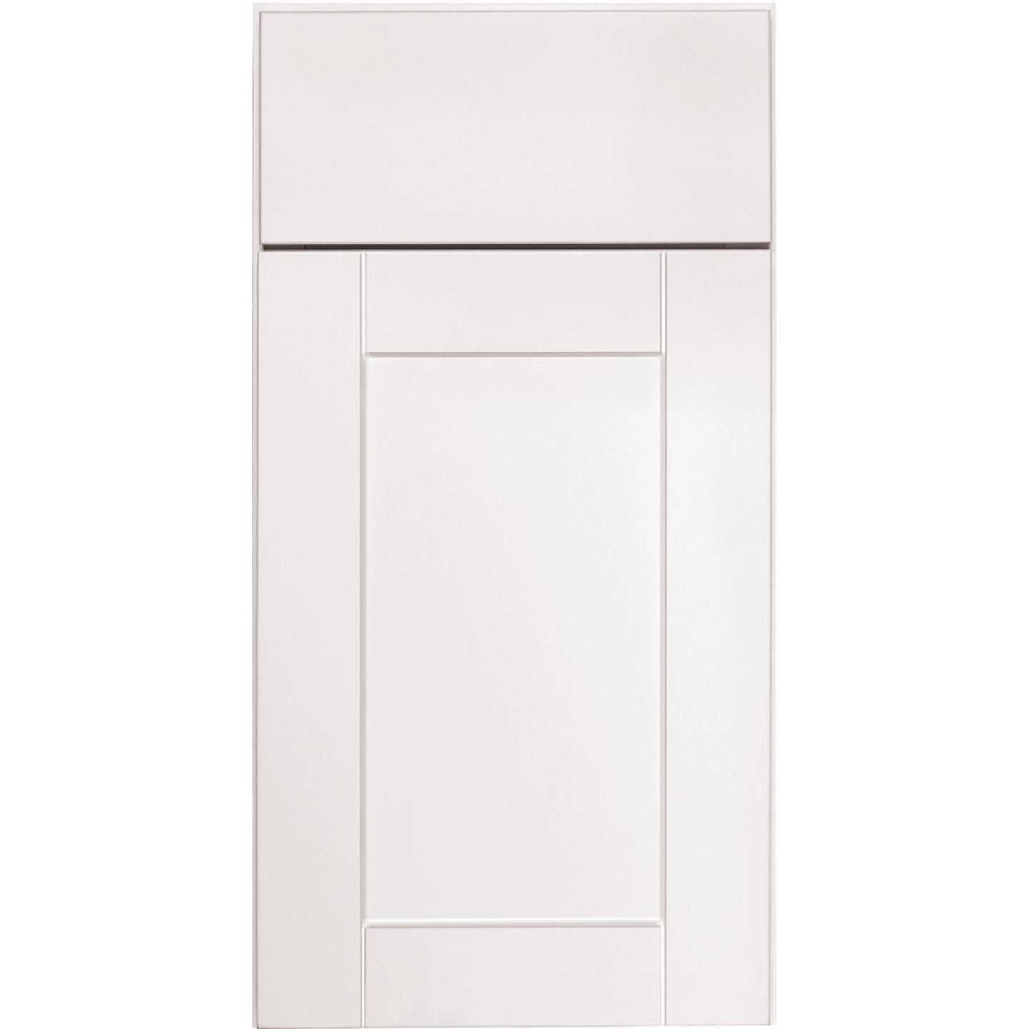 Continental Cabinets Andover Shaker 18 In. W x 34-1/2 In. H x 24 In. D White Thermofoil Kitchen Cabinet Drawer Base Image 3