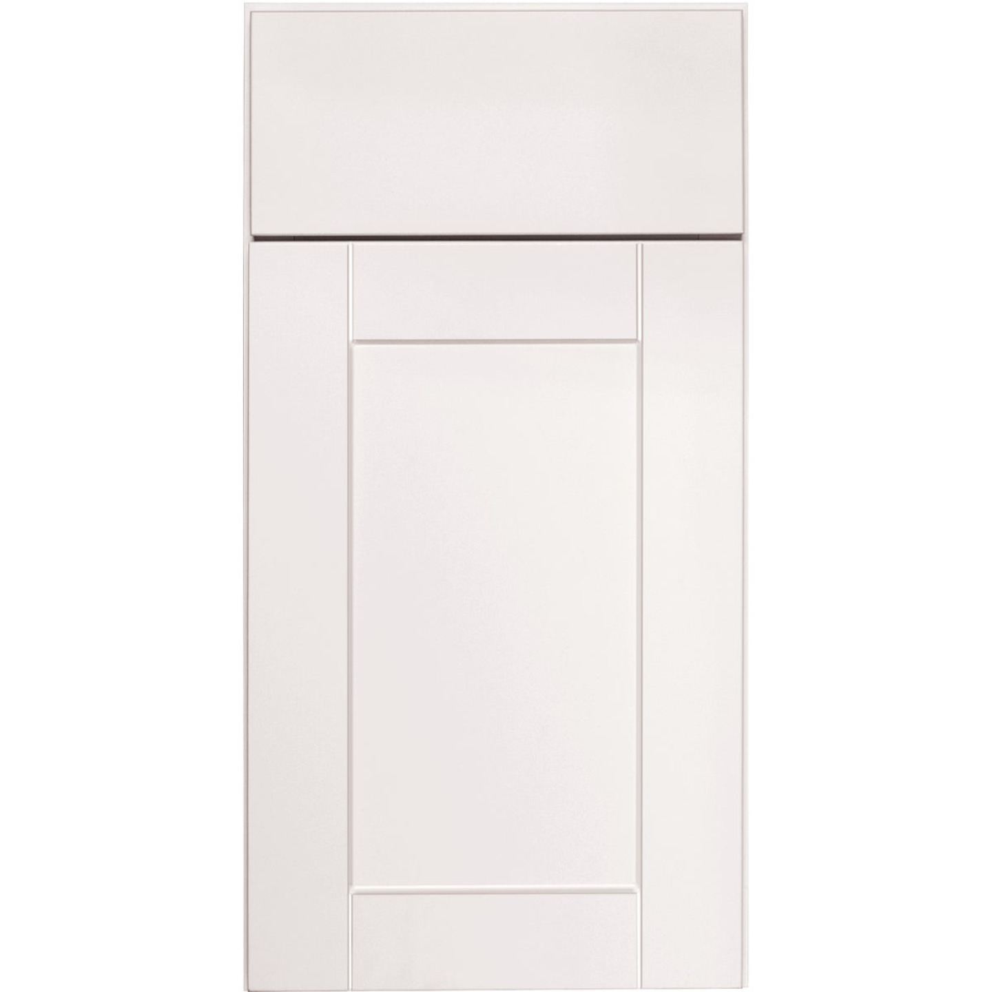 Continental Cabinets Andover Shaker 18 In. W x 34 In. H x 24 In. D White Thermofoil Base Kitchen Cabinet Image 3