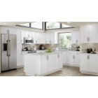 Continental Cabinets Andover Shaker 36 In. W x 34 In. H x 24 In. D White Thermofoil Base Kitchen Cabinet Image 2