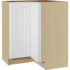 Continental Cabinets Andover Shaker 36 In. W x 34-1/2 In. H x 24 In. D White Thermofoil Lazy Susan Corner Base Kitchen Cabinet Image 1