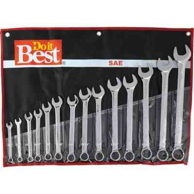 Do it Best Standard 12-Point Combination Wrench Set (14-Piece)