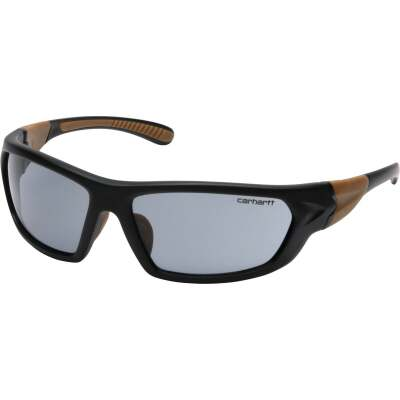 Carhartt Carbondale Black & Tan Frame Safety Glasses with Gray Lenses