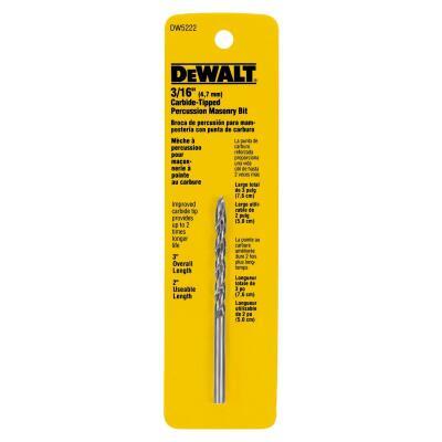 DeWalt 3/16 In. x 3 In. Masonry Drill Bit
