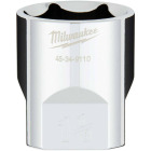 Milwaukee 1/2 In. Drive 1-1/8 In. 6-Point Shallow Standard Socket with FOUR FLAT Sides Image 1