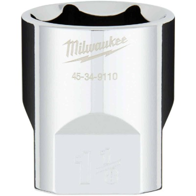 Milwaukee 1/2 In. Drive 1-1/8 In. 6-Point Shallow Standard Socket with FOUR FLAT Sides
