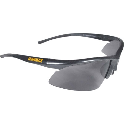 DeWalt Radius Black/Yellow Frame Safety Glasses with Smoke Lenses