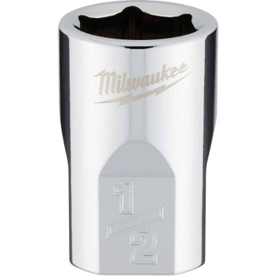 Milwaukee 3/8 In. Drive 1/2 In. 6-Point Shallow Standard Socket with FOUR FLAT Sides