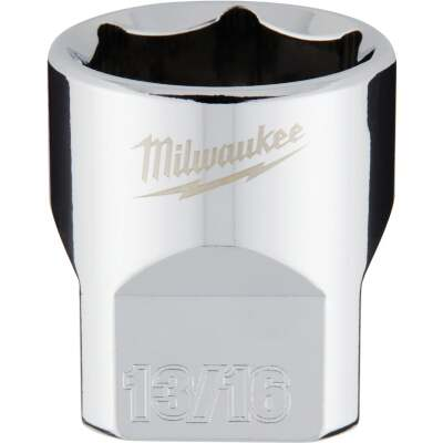 Milwaukee 3/8 In. Drive 13/16 In. 6-Point Shallow Standard Socket with FOUR FLAT Sides