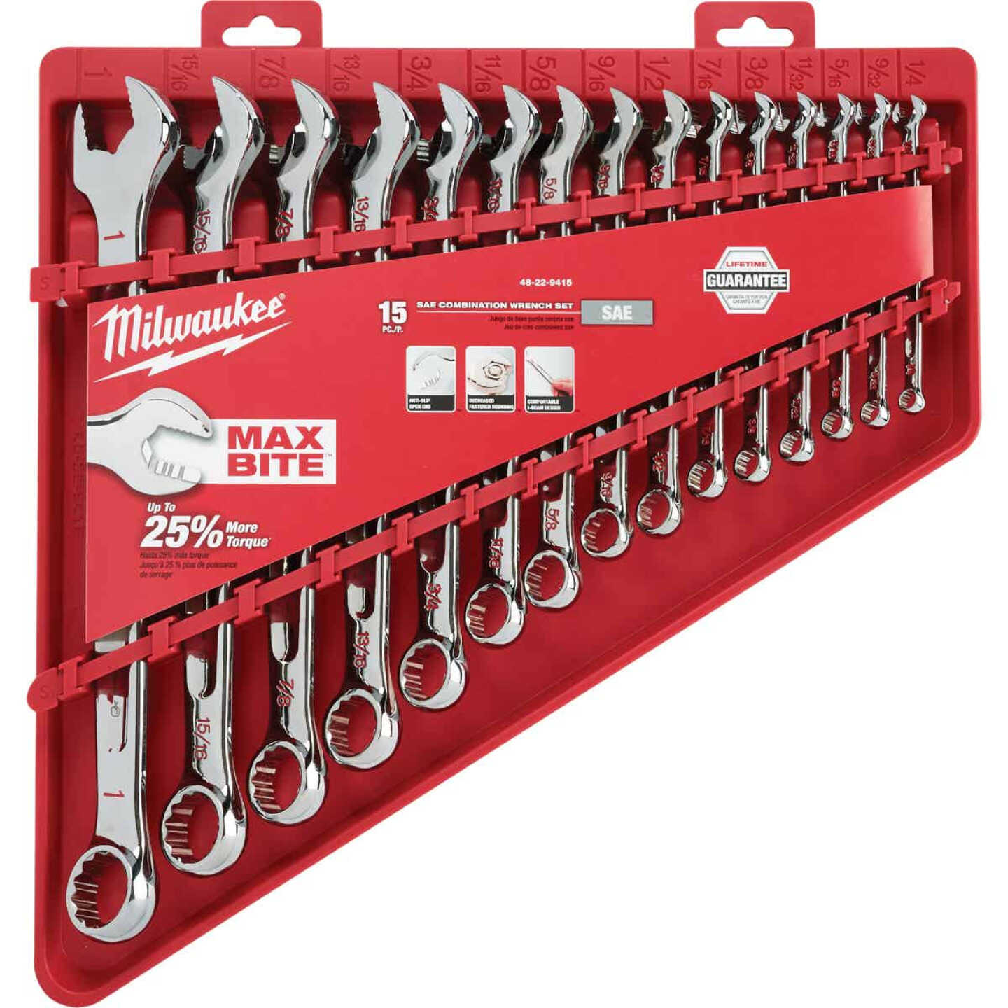 Milwaukee Standard 12-Point Combination Wrench Set (15-Piece) Image 2