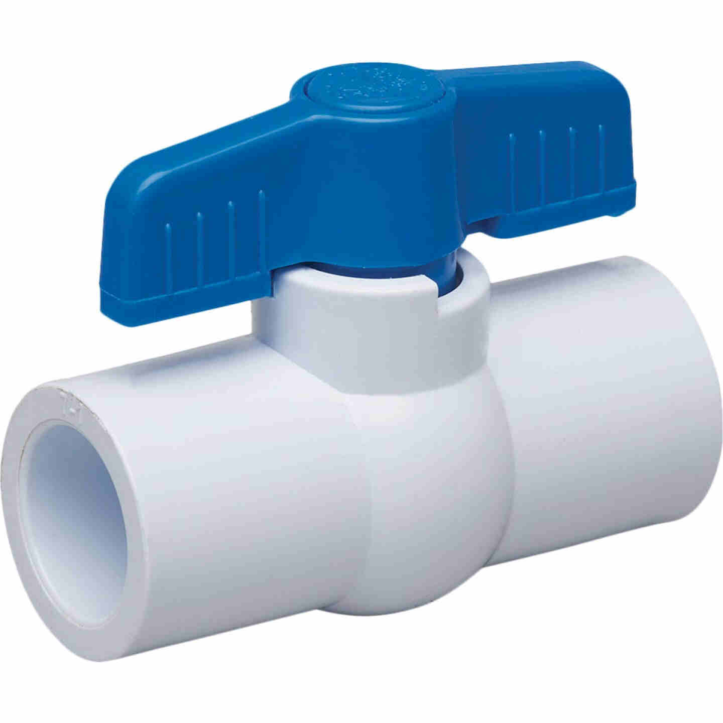 Proline 1 In. Solvent x 1 In. Solvent PVC Schedule 40 Quarter Turn Ball Valve, Non-NSF Image 1