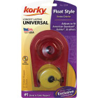 Korky Plus 2 In. Rubber Adjustable Flapper with Float and Chain Image 2