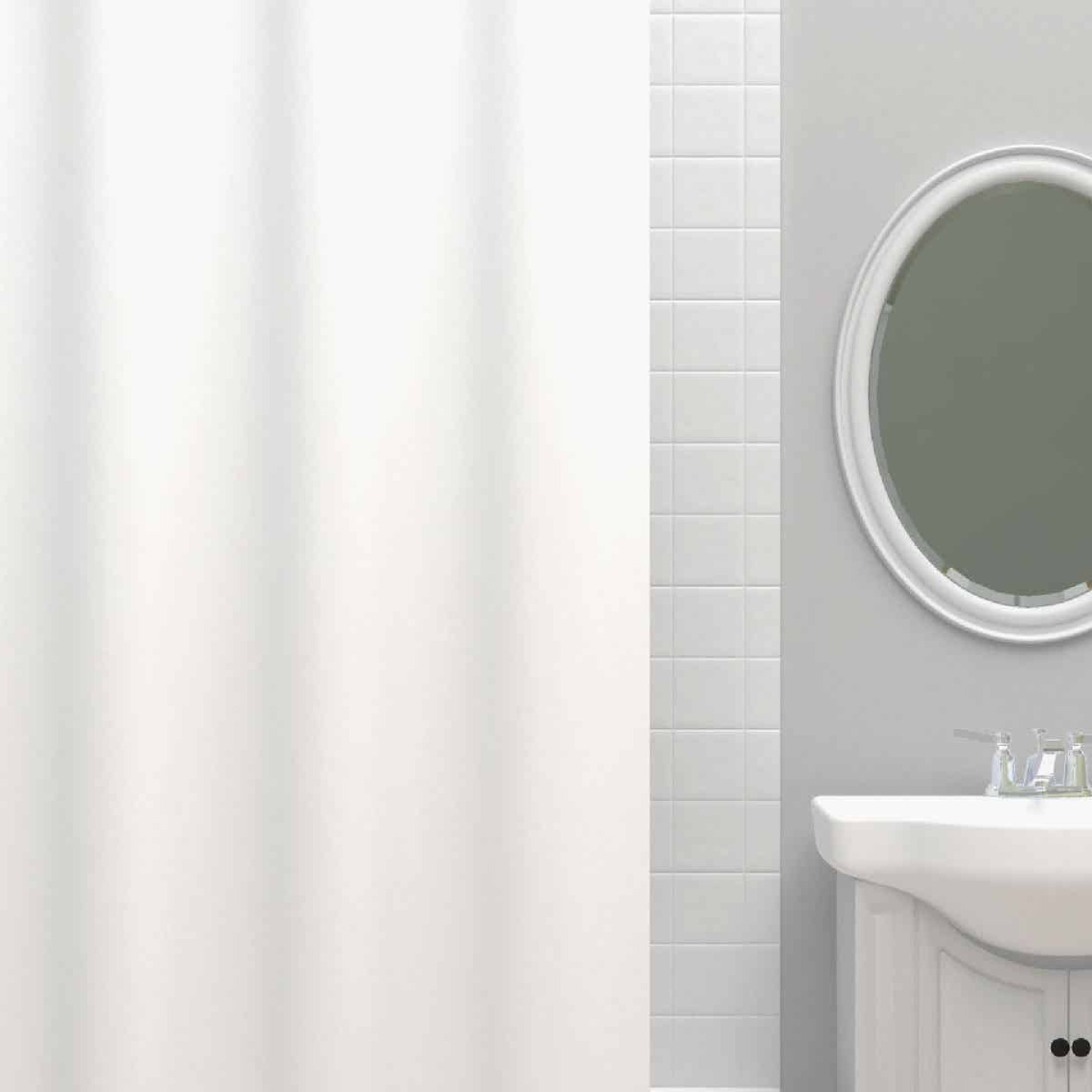Zenna Home 70 In. x 72 In. White Heavyweight PEVA Shower Curtain Liner Image 1