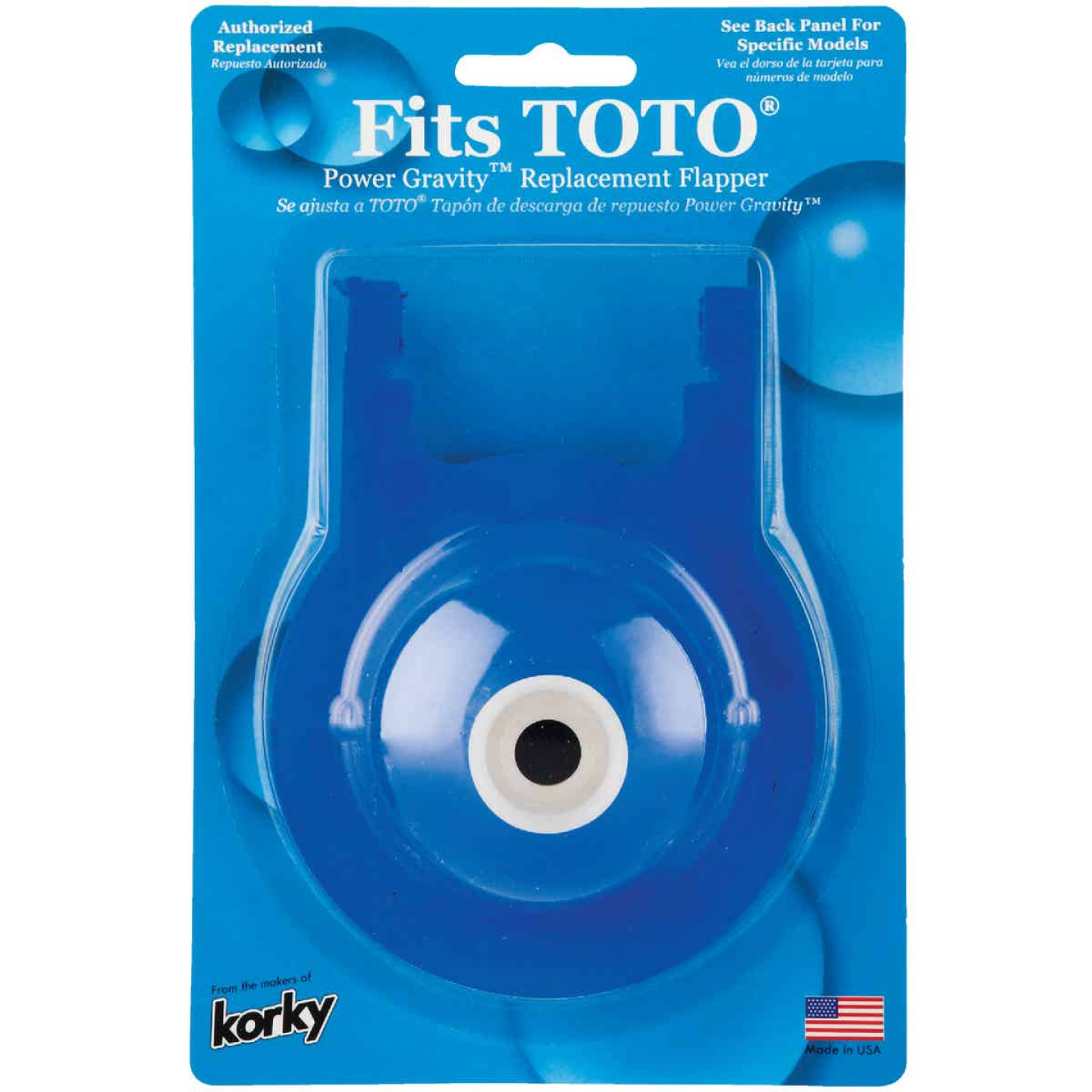 Korky TOTO Power Gravity Rubber Flapper Image 2