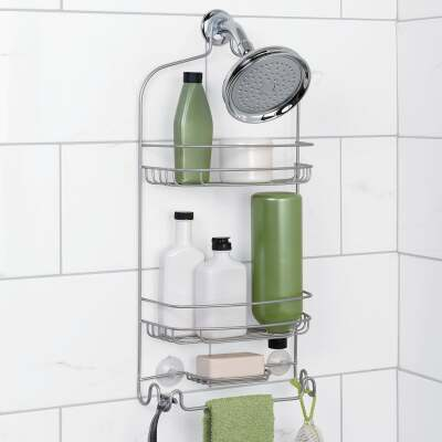 Zenna Home Satin Nickel Steel Shower Caddy