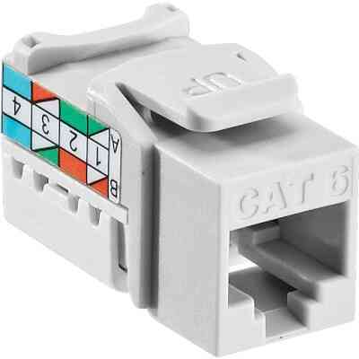 Leviton White 8-Conductor Cat-6 Connector Jack