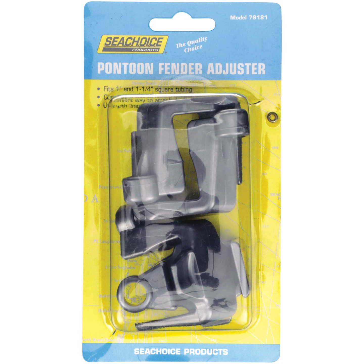 Seachoice 1 In. and 1-1/4 In. Square Pontoon Fender Adjuster (4-Pack) Image 1