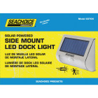 Seachoice 3.75 In. x 5 In. x 1.75 In. Silver LED Side Mount Solar Deck Light Image 1