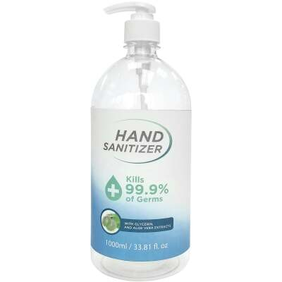 33.81 Oz. (1000ml) Hand Sanitizer Pump