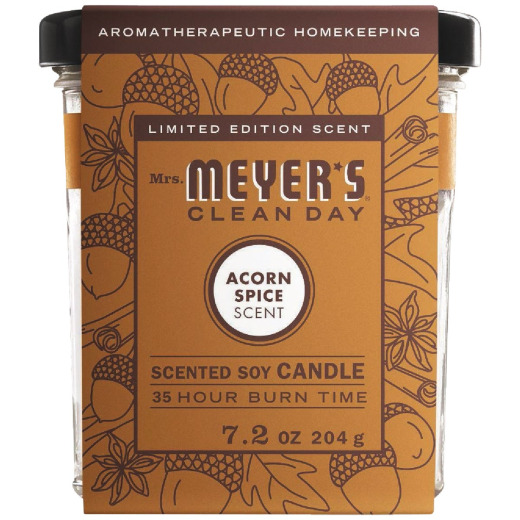 Mrs. Meyer's Clean Day 7.2 Oz. Acorn Spice Soy Candle