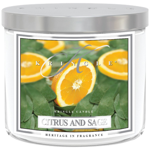 Kringle Candle 14.5 Oz. Citrus & Sage 3-Wick Soy Jar Candle