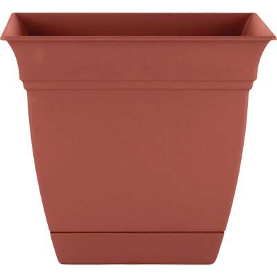 HC Companies Eclipse 8 In. x 8 In. x 7 In. Resin Clay Planter