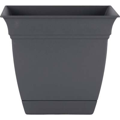 HC Companies Eclipse 8 In. x 8 In. x 7 In. Resin Warm Gray Planter