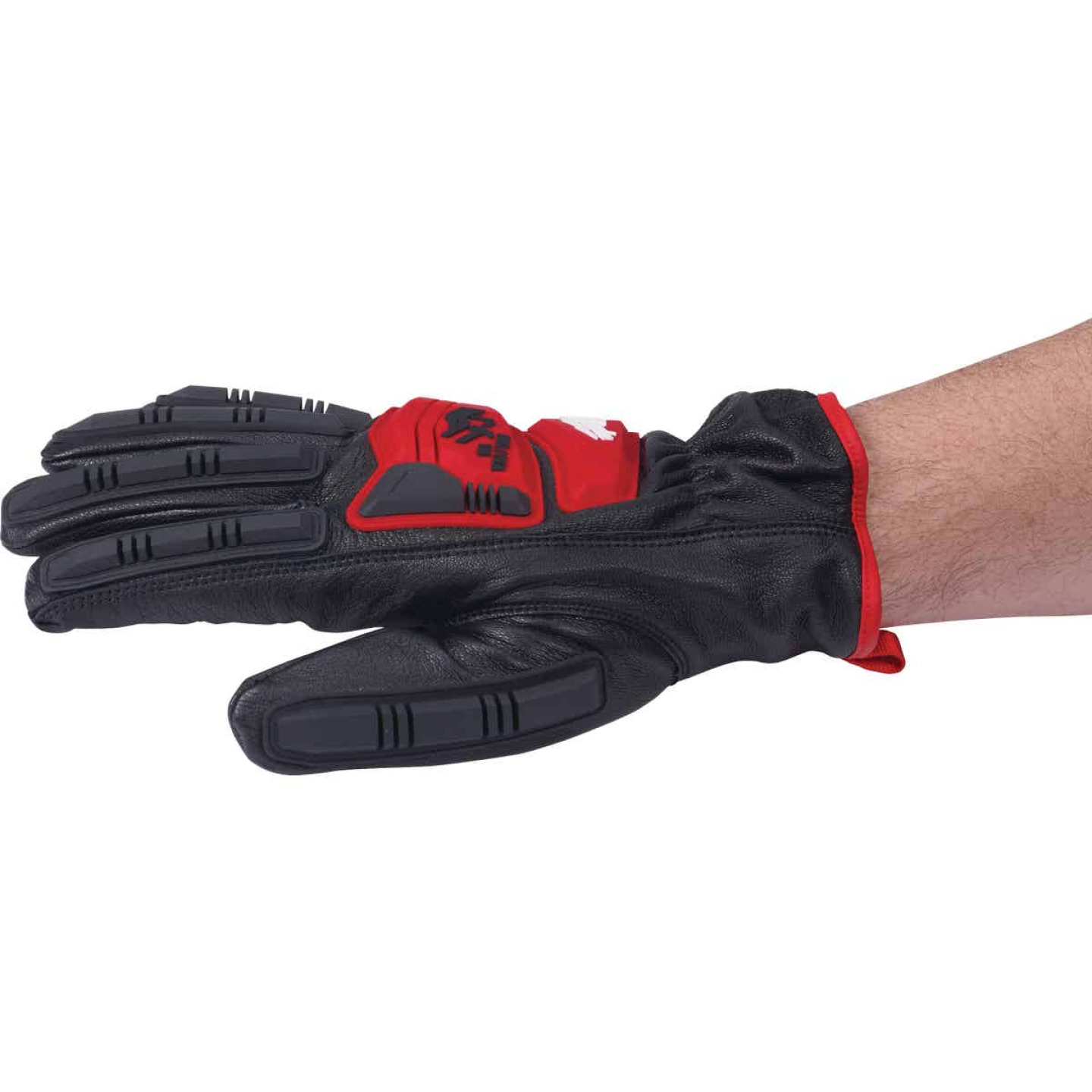 Milwaukee Impact Cut Level 5 Men's Large Goatskin Leather Work Gloves Image 4