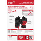 Milwaukee Impact Cut Level 5 Men's Large Goatskin Leather Work Gloves Image 5