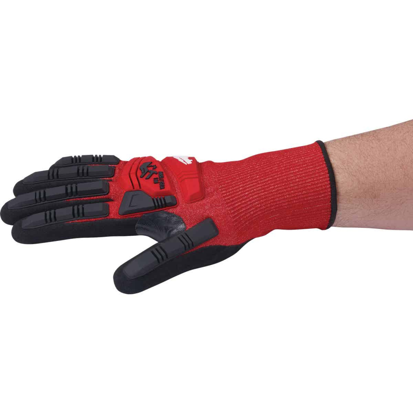 Milwaukee Impact Cut Level 3 Large Men's Nitrile Dipped Work Gloves Image 5