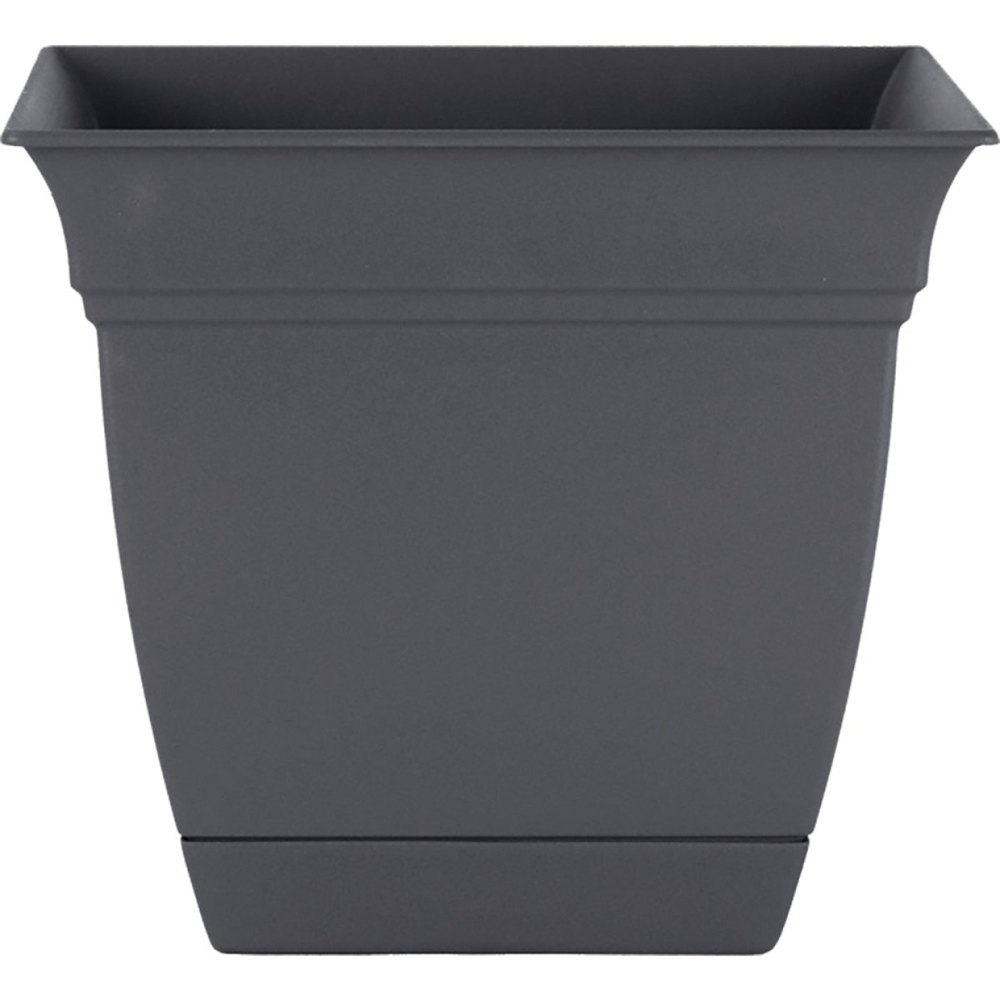 HC Companies Eclipse 10 In. x 10 In. x 8.75 In. Resin Warm Gray Planter Image 1