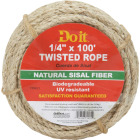 Do it 1/4 In. x 100 Ft. Natural Twisted Sisal Fiber Packaged Rope Image 1