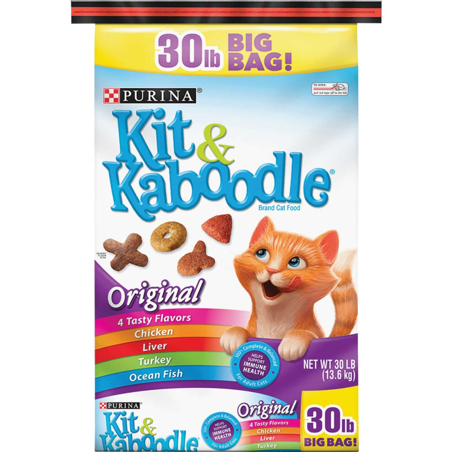 Purina Kit & Kaboodle 30 Lb. Chicken, Liver, Turkey, & Fish Flavor Adult Dry Cat Food Image 1