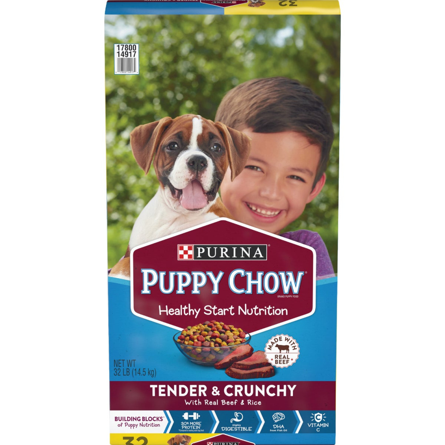 Purina Puppy Chow Healthy Morsels 32 Lb. Beef Flavor Dry Puppy Food Image 1