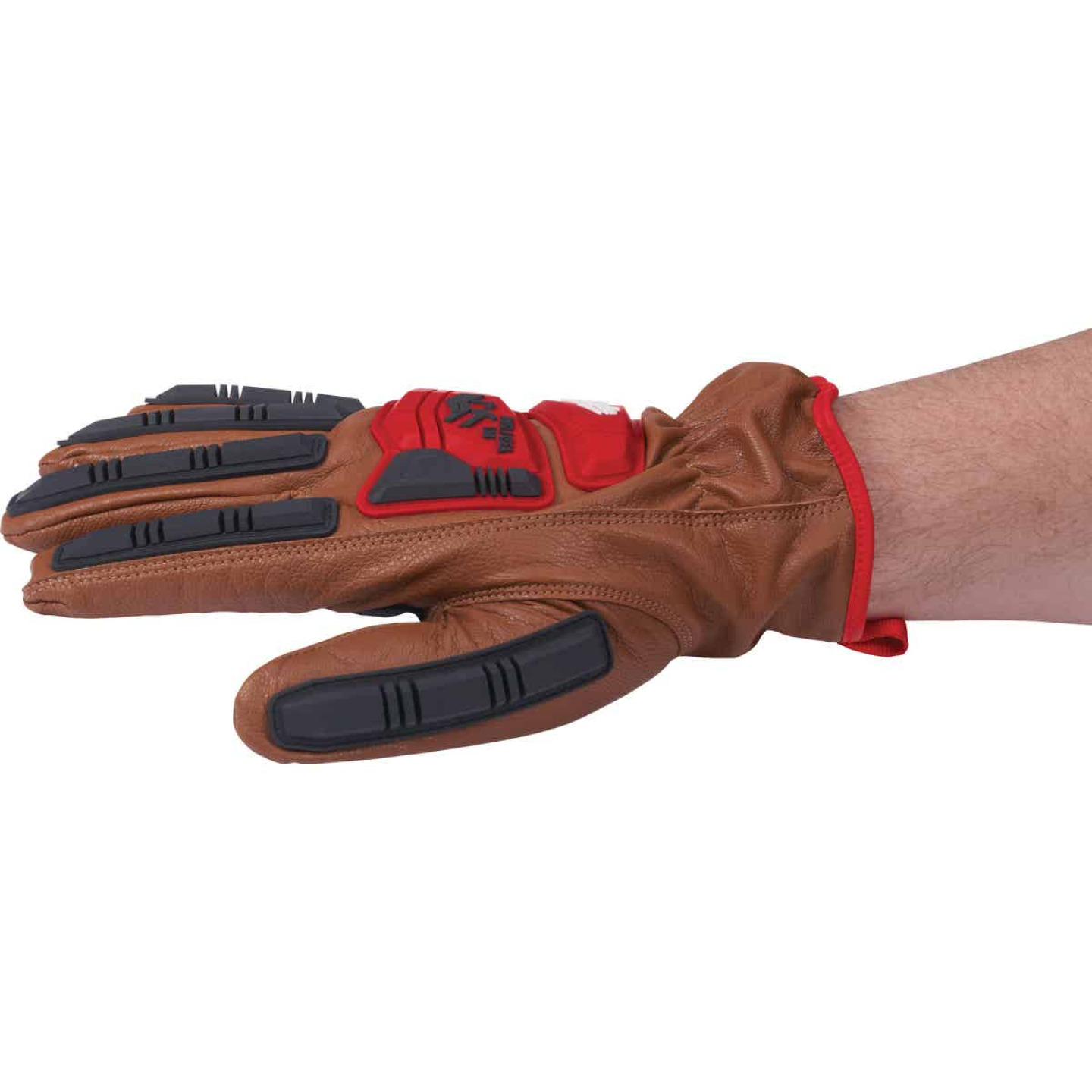 Milwaukee Impact Cut Level 3 Men's XL Goatskin Leather Work Gloves Image 4